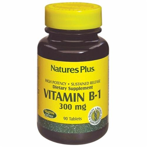 Natures Plus Vitamin B-1 Sustained Release Tablets 300mg 90 Count Perspective: front