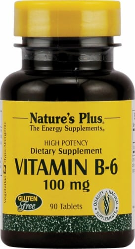 Nature's Plus Vitamin B-6 Dietary Supplement Perspective: front