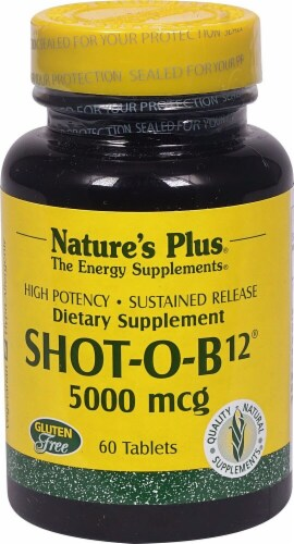 Natures Plus  Shot-O-B12® Perspective: front