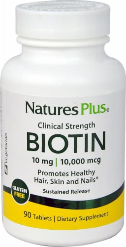 Nature's Plus  Clinical Strength Biotin Perspective: front