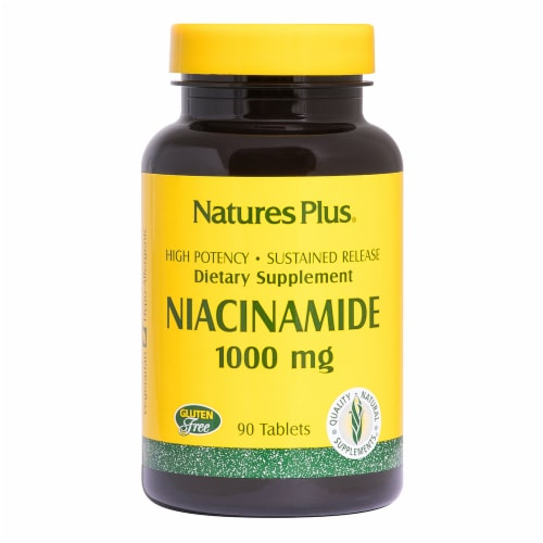 Nature's Plus Niacinamide Tablets 1000mg Perspective: front