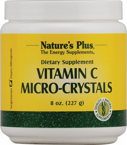 Nature's Plus Vitamin C Micro-Crystals Dietary Supplement Perspective: front