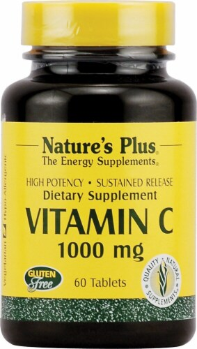 Nature's Plus Vitamin C Sustained Release Dietary Supplement Perspective: front