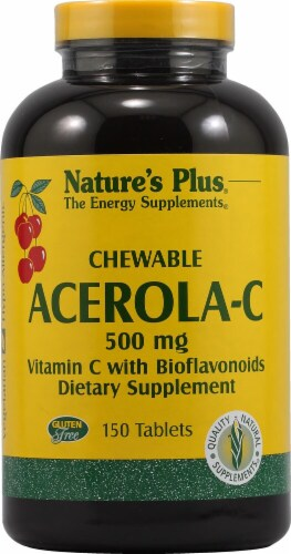 Nature's Plus Chewable Acerola-C Dietary Supplement Perspective: front