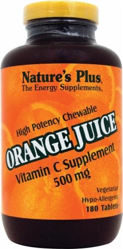 Nature's Plus  Chewable Orange Juice Vitamin C Dietary Supplement Perspective: front