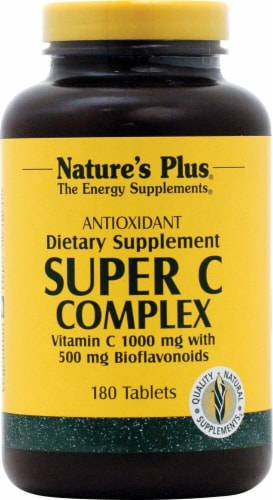 Nature's Plus Super C Complex Dietary Supplement Perspective: front