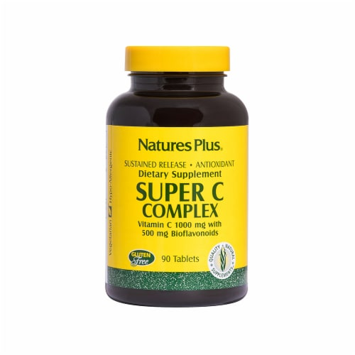 Natures Plus Super C Complex Tablets 1000mg 90 Count Perspective: front