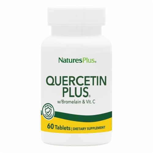 Nature's Plus Quercetin Pus Supplement Perspective: front