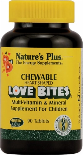 Nature's Plus  Love Bites® Children's Chewable Multi-Vitamin and Mineral Tablets 90 Count Perspective: front