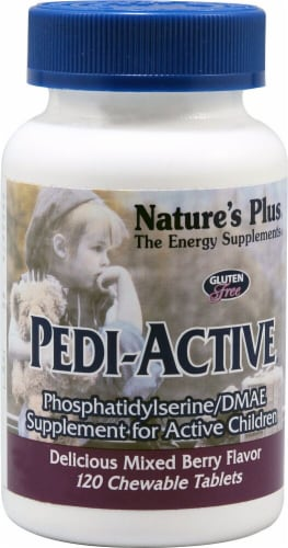 Nature's Plus Pedi-Active Mixed Berry Flavor Chewable Tablets 120 Count Perspective: front