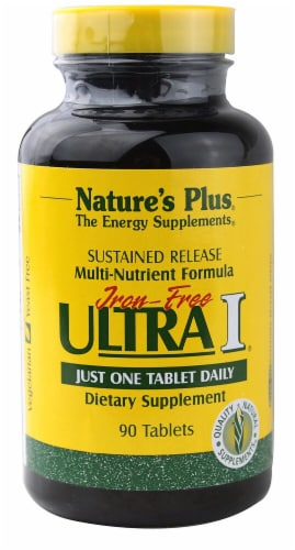 Nature's Plus  Iron-Free Ultra I® Multi-Nutrient Formula Perspective: front