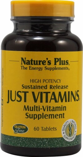 Nature's Plus  Just Vitamins Perspective: front