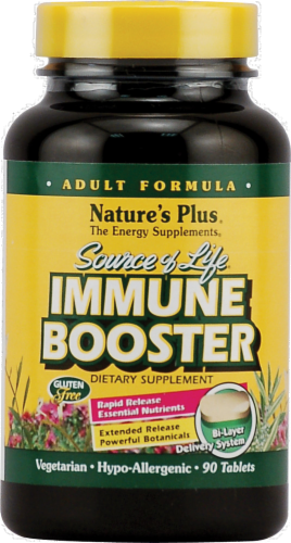 Nature's Plus Source of Life Adult Immune Booster Tablets Perspective: front