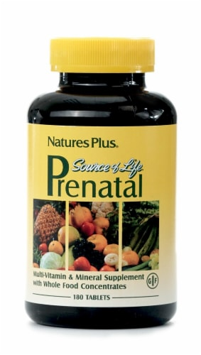 Nature's Plus  Source of Life® Prenatal Multi-Vitamin Perspective: front