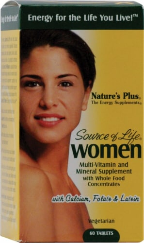 Nature's Plus Source of Life Women Multi-Vitamin and Mineral Tablets Perspective: front