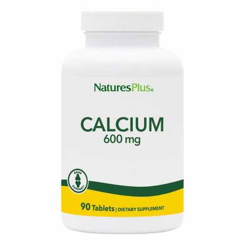 Natures Plus Calcium Tablets 600mg Perspective: front