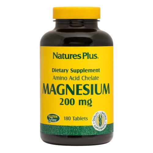 Natures Plus Magnesium Tablets 200mg Perspective: front