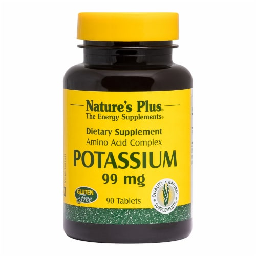 Nature's Plus Potassium Tablets 99mg Perspective: front
