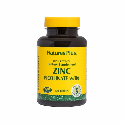 Nature's Plus Zinc Picolinate Perspective: front