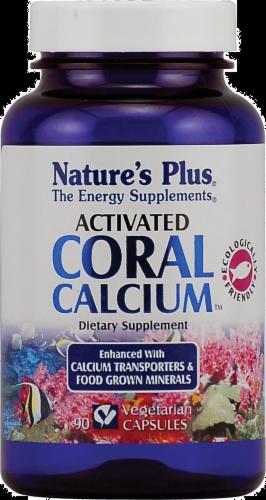 Nature's Plus Activated Coral Calcium Vegetarian Capsules Perspective: front