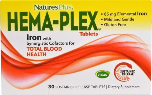 Nature's Plus Hema-Plex Tablets Perspective: front