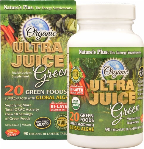 Nature's Plus  Ultra Juice Green® Perspective: front