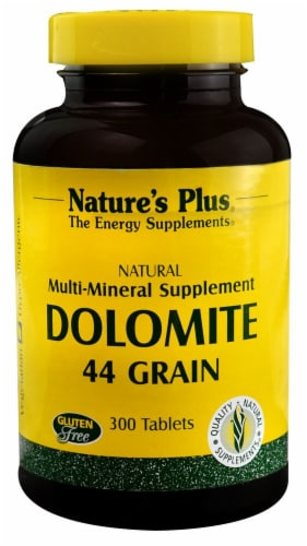 Nature's Plus  Dolomite 44 Grain Perspective: front