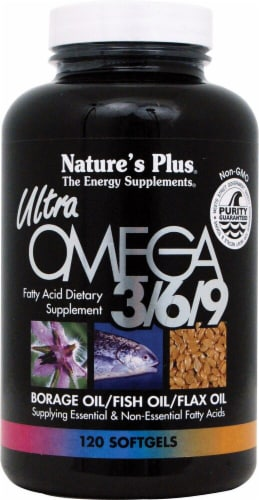 Nature's Plus  Ultra Omega 3 6 9 Perspective: front
