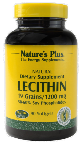Nature's Plus Lecithin 19 Grains 1200 Mg Perspective: front