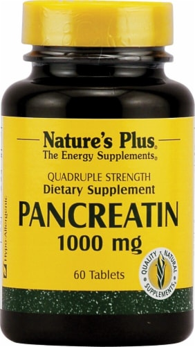 Nature's Plus  Pancreatin Perspective: front