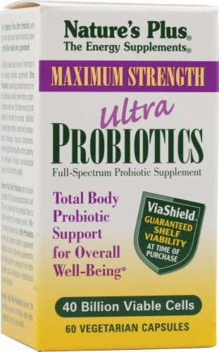 Nature's Plus  Ultra Probiotics Maximum Strength Perspective: front