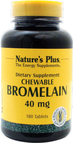 Nature's Plus Chewable Bromelain 40 Mg Perspective: front