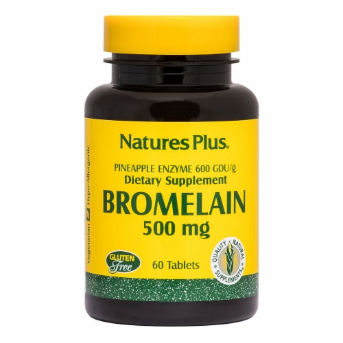 Natures Plus Bromelain Tablets 500mg Perspective: front