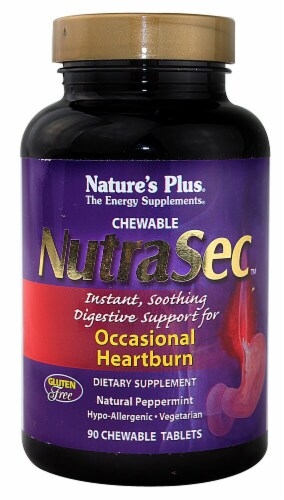 Nature's Plus  NutraSec™   Natural Peppermint Perspective: front