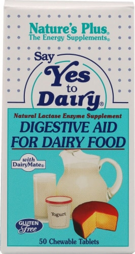 Nature's Plus Say Yes To Dairy Chewable Tablets Perspective: front