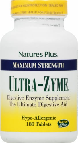 Nature's Plus Ultra-Zyme® Maximum Strength Digestive Aid Tablets Perspective: front