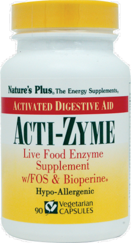 Nature's Plus Acti-zyme Activated Digestive Aid Perspective: front