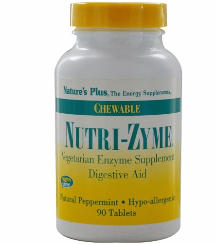 Nature's Plus  Nutri-Zyme® Chewable Digestive Aid Perspective: front