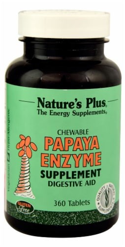 Nature's Plus Papaya Enzyme Chewable Tablets Perspective: front