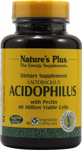 Nature's Plus  Acidophilus Lactobacillus Perspective: front