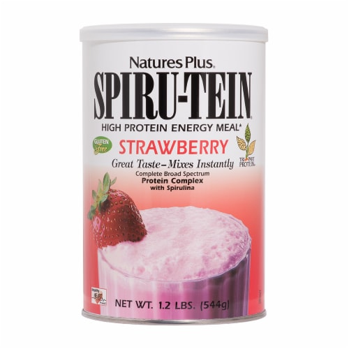 Nature's Plus Spiru-Tein Strawberry Shake Perspective: front
