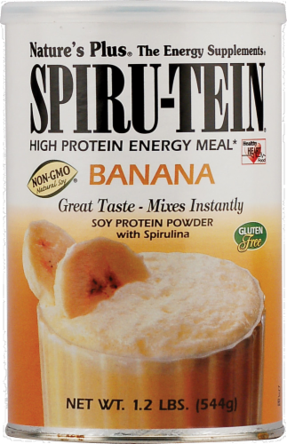 Nature's Plus Spiru-Tein High Protein Banana Shake Mix Perspective: front