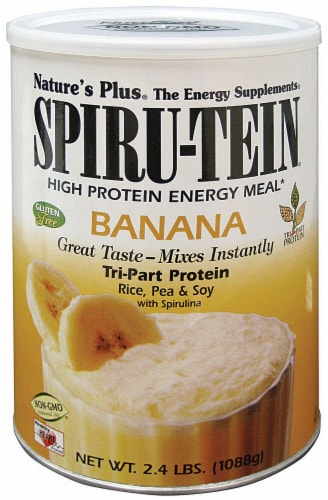 Nature's Plus  Spiru-Tein® High Protein Energy Meal   Banana Perspective: front
