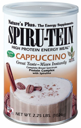 Nature's Plus  Spiru-Tein® High Protein Energy Meal   Cappuccino Perspective: front