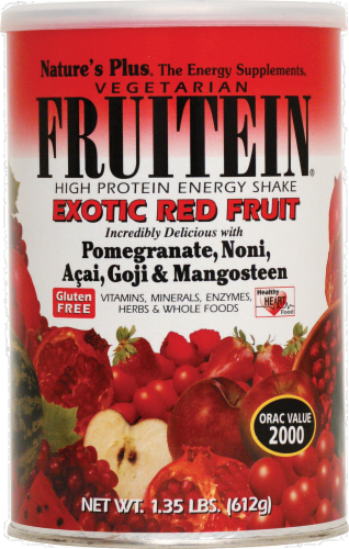 Nature's Plus Fruitein Red Fruit Shake Perspective: front