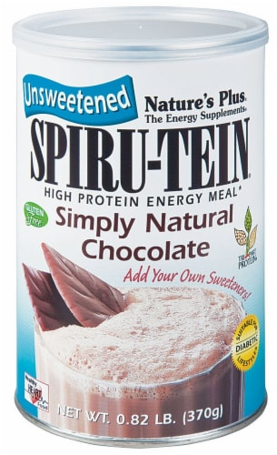 Nature's Plus  Spiru-Tein® High Protein Energy Meal   Simply Natural Chocolate Perspective: front