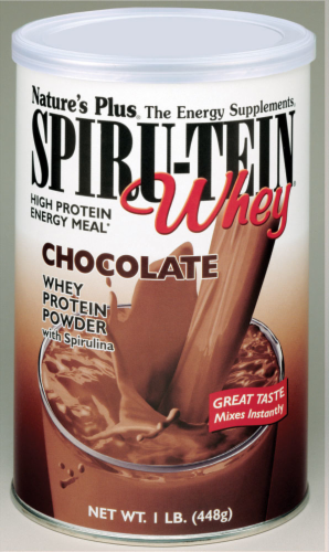 Nature's Plus Spiru-Tein Whey Chocolate Perspective: front