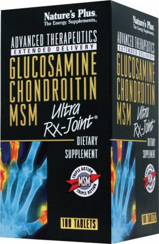 Nature's Plus  Glucosamine Chondroitin MSM Ultra Rx-Joint® Perspective: front