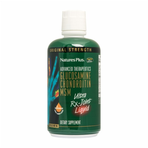 Nature's Plus Glucosamine Chondroitin MSM Ultra Rx-Joint Liquid Dietary Supplement Perspective: front