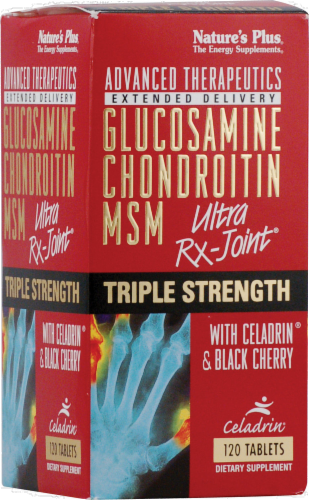 Nature's Plus Glucosamine Chondroitin MSM Ultra Joint Dietary Supplement Perspective: front